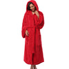 Winter Thick Warm Women Robes 2018 Coral Fleece Sleepwear Long Robe Woman Hotel Spa Plush Long Hooded Bathrobe Nightgown Kimono