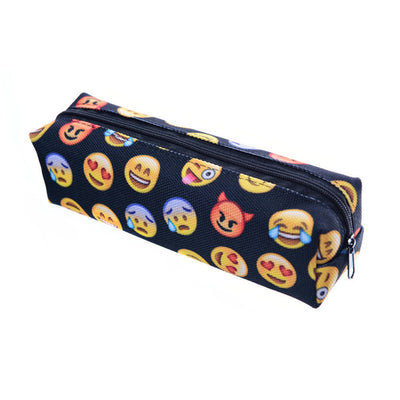 1PCS New Fashion Emoji Pencil Pen Polyster Case Pencil Cases Cosmetic Makeup Tool Bag Storage Pouch  dailytechstudios- upcube