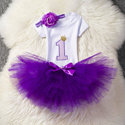 fbbf78c0 Ai Meng Baby Little Girl 1st First Birthday Outfits Toddler Infant Party  Dress Newborn Baptism Kids