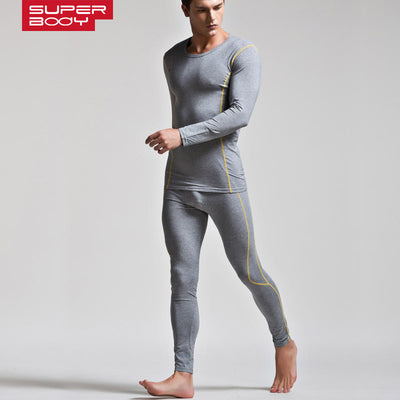 4f2ff74e91b1 Hot Winter Men's Warm Thermal Underwear Sets Men Soft Sexy Gay Long Johns  Modal Comfortable Sleepwear