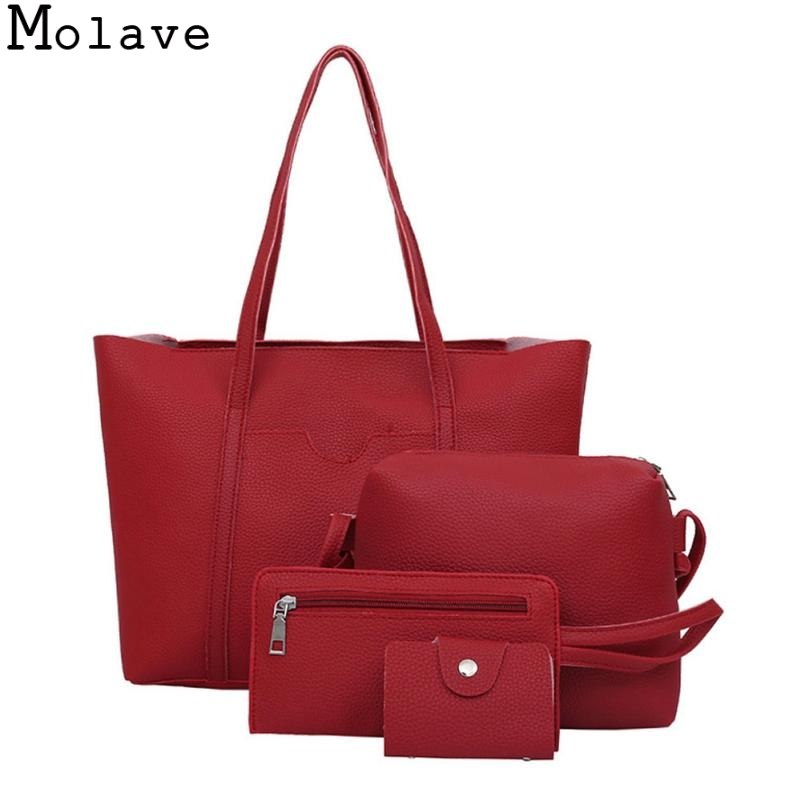 Molave Handbags Women Four Set Shoulder Bags Totes Four Pieces Tote Bag Crossbody New female bramd handbags 17Jan1