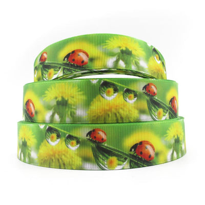 "1"" 25mm David accessories ladybug high quality printed polyester ribbon 5yds,DIY handmade materials,wedding gift,5Y55183 - upcube"