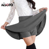 ALSOTO Summer Style Korean version Skirts safty mini skirt women's spring and summer high waist pleated short skirt faldas mujer