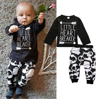 0-24M Newborn Infant Baby Clothes Little Boys Girls T-shirt Top+Pant 2pcs Outfits Bebes Autumn Clothing Set - upcube