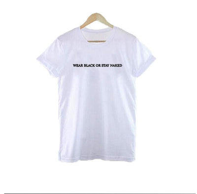 3bf87d3c5096 Wear Black Or Stay Naked T-shirt Tumblr Inspired Pastel Pale Grunge  Aesthetic Tee Women