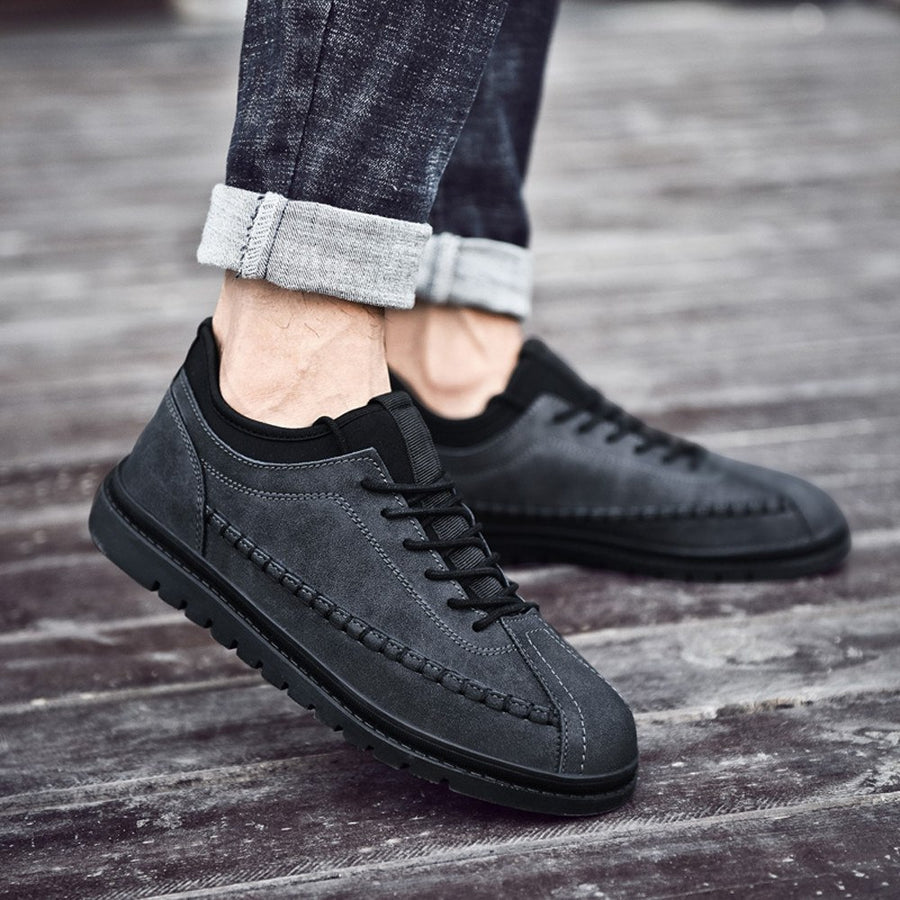 2019 Fashion Men's Casual Sport Shoes Thick  Vintage Popular Men's Flat Single Shoes Men zapatos de hombre Plus Size 39~46