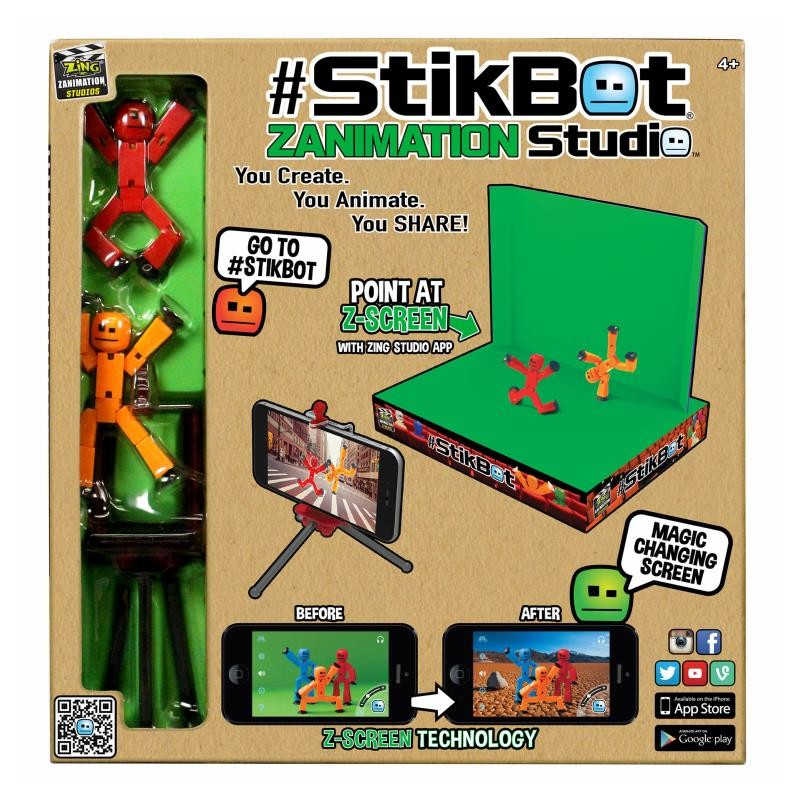AIBOULLY StikBot Z Animation Studio Toy Shed Make Stop Motion Films with  Cute StikBot Figurines Animation Interesting Gift Toys