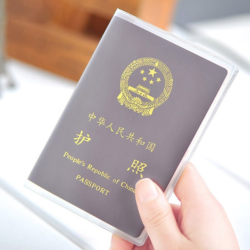 Transparent Passport Cover On Waterproof Document Bags Passport Protective Sleeve