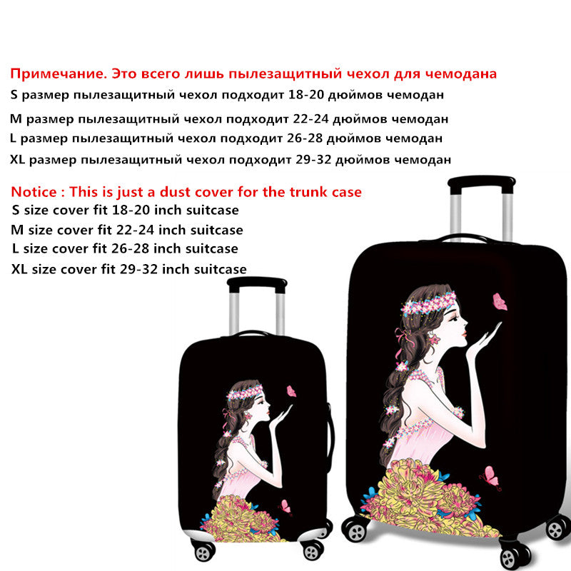 3D Prints Elastic Luggage Protective Covers Women Thick Travel Dust Rain Bags For Suitcase Trunk Case Accessories Supply Product