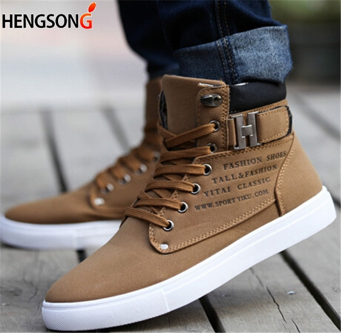 f40ca4bc16f84 1Pair New Brand Flat Heel Men's Shoes Autumn Winter Ankle Boots Male Snow  Boots Casual British