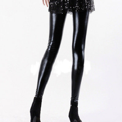 special selection of forefront of the times classic fit New Stylish Gothic Shiny Vinyl Leggings Erotic Wet Look Faux Leather Pants  PU Vinyl Low Waist Leggins Leggings Plus Size M XL