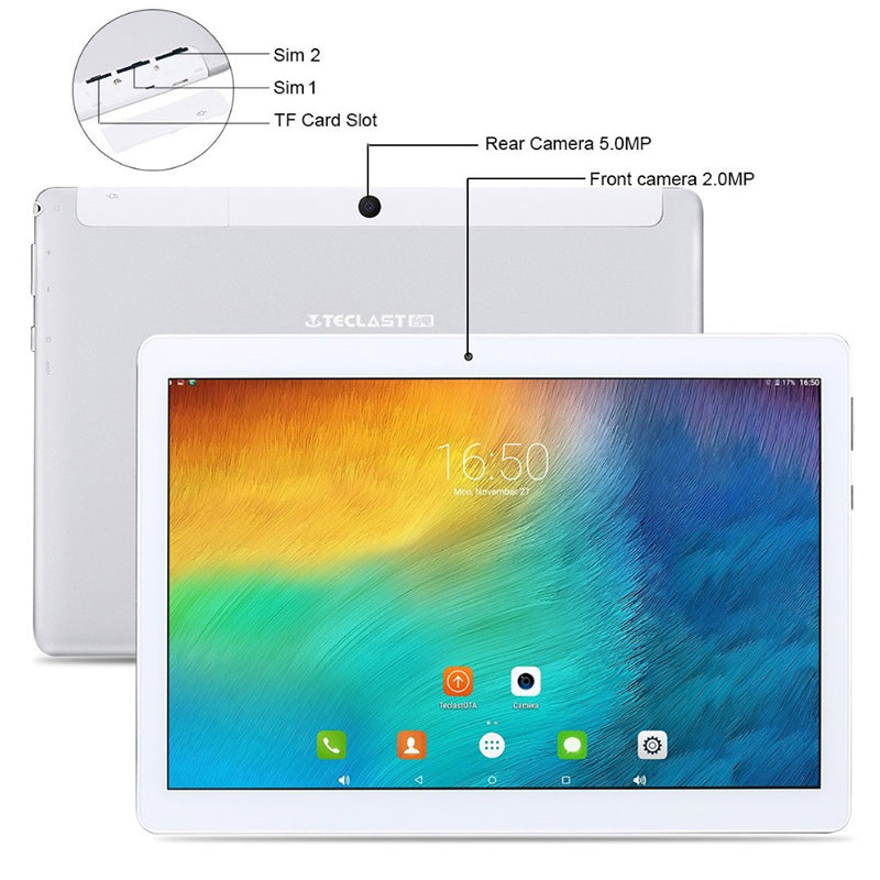 Free Shipping DHL teclast 2018 Tablet 98 pc octa core updated version 10.1 inch Android 6.0 & 1920*1200 2gb RAM 32GB Dual Camera