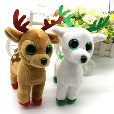 a4839c696872d TY BEANIE BOOS collection 1PC 15CM peppermint tinsel sika deer BIG EYES  Plush Toys Stuffed animals