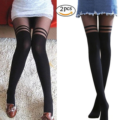 54860ce03 2018 Hot Wholesale price Fashion Women Girls Temptation Sheer Mock  Suspender Tights Pantyhose New Arrival Sexy