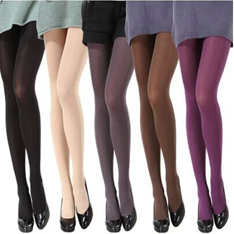 120D Women Tights Velvet Candy Color High Quality Stockings Winter Autumn Fitness Pantyhose Free Shipping - upcube