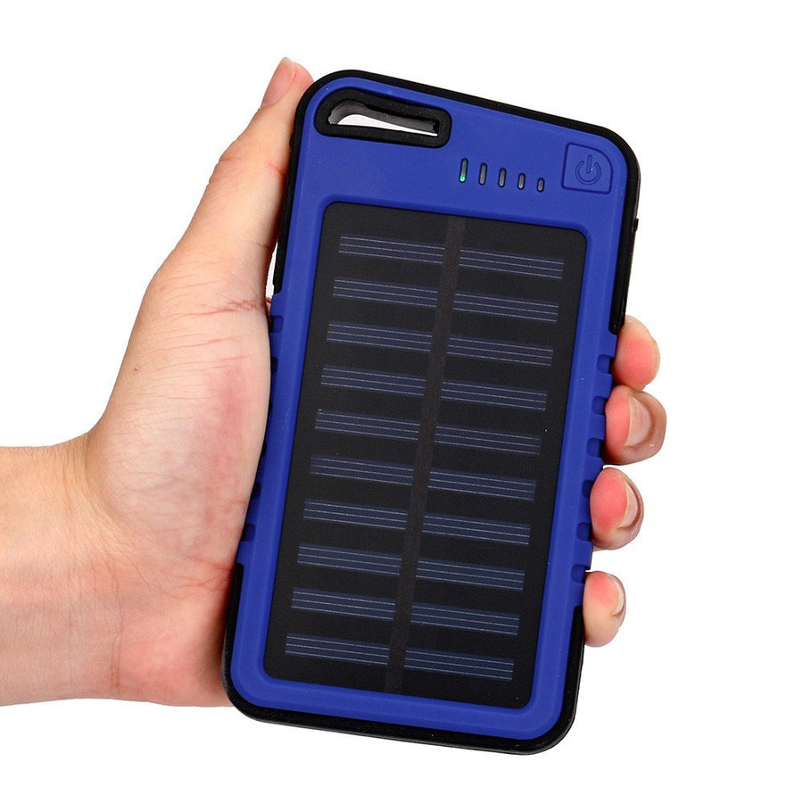 20000 mah Dual-USB Waterproof Solar Power Bank Battery Portable Charger External Battery Fast Charging For Cell Phones Tablet