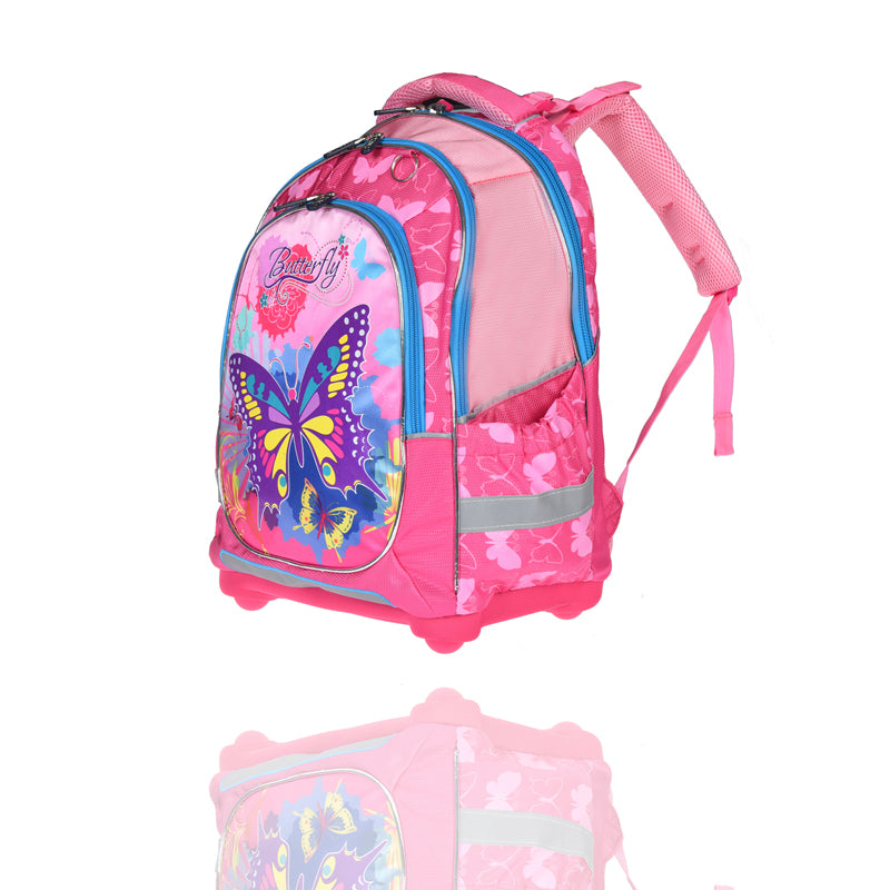3f4a1960ddd9 wenjie brother Kids school Backpack monsterhigh butterfly  orthopedicChildren School Bags for boys and Girls mochila infantil