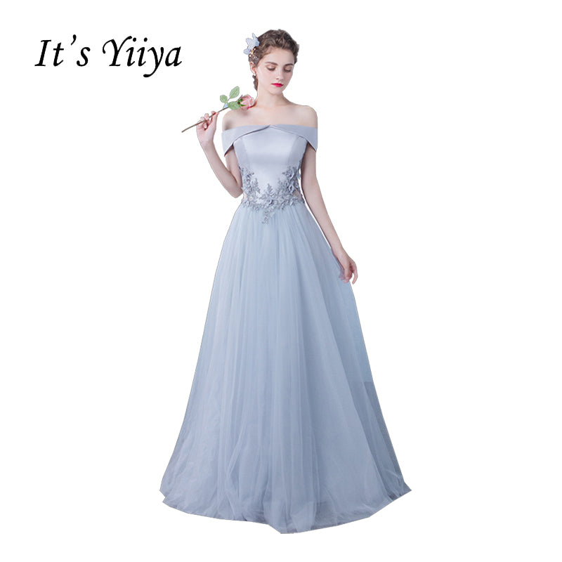 It s YiiYa Wine Red Boat Neck Sleeveless Prom Dresses Flowers Simple Lace  Floor Length Crepe Party d505ec11a35e