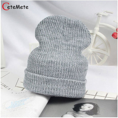 e247846431d 2017 Female Hat Beanies Style Wool Knit Hat Hip Hop Winter Warm Caps For  Unisex Snow