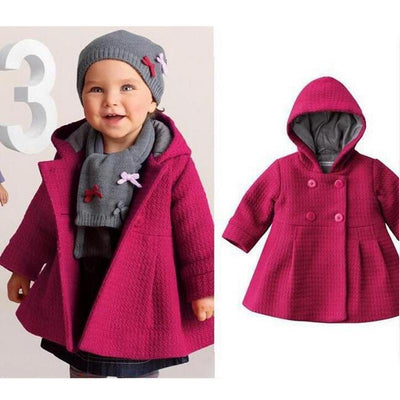 0-18Months/Autumn Winter Baby Girls Clothing Coats And Jackets For Newborn Clothes Warm Hooded Cute Pink Infant Outerwear BC1245 - upcube