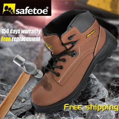 4fdcc5d5b8c4 safetoe Safety Shoes Work Boots Men Steel Toe Cap Leather UK Size 2-13 Anti