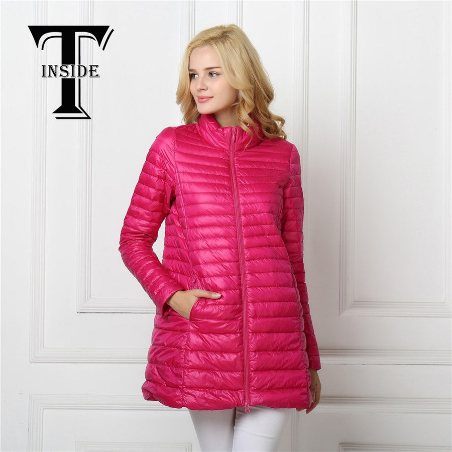 Women's Down Jacket Winter Down Jackets T-insided02 Female About Everything Feathers For Women Mujer Para Shelter Long Bags
