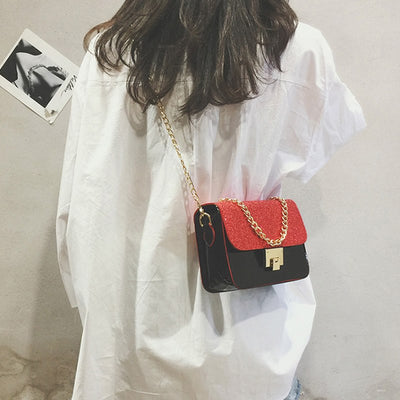 2019 New Wave Korean Version Of The Super Fire Pack Wild Hit Color Cover Slung Female Bag Shoulder Bag