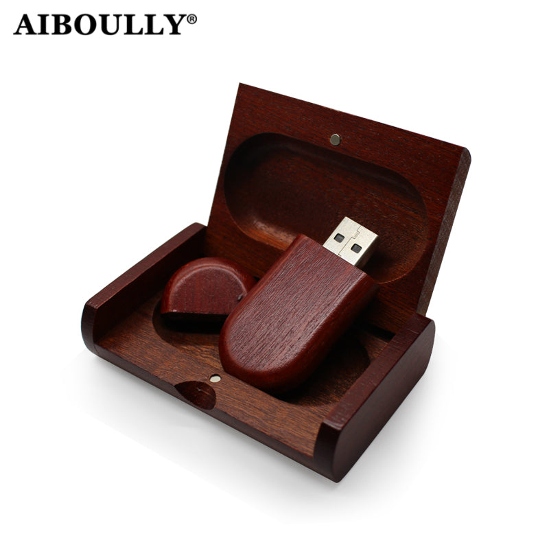 (OVER 10 PCS FREE LOGO) Usb  Drive 4GB 8GB 16GB 32GB 64GB Usb Stick Pen Drive Memory Stick Pendrive Wood Usb + Box Wedding Gift