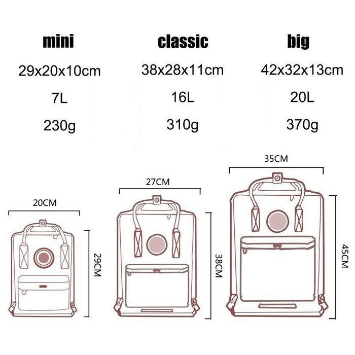 Fashion Women's Bags Kanken Backpack Women Large Capacity Waterproof School Classic kanken Mini Unisex Travel Bagpack Mochila