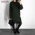 RZIV Spring 2018 pullover women's sweater casual solid color lace stitching long knitted female sweater