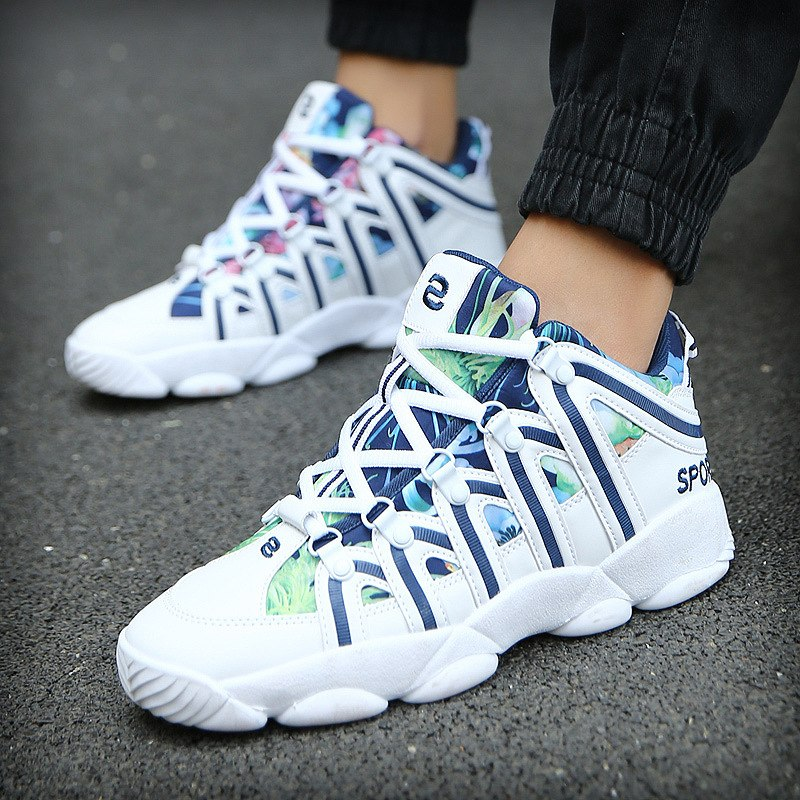 35-44 Autumn New Neutral Basketball Shoes Men Outdoor Sneakers Shock Absorber Wear Sport Shoes High To Help Trainer Brand Boots