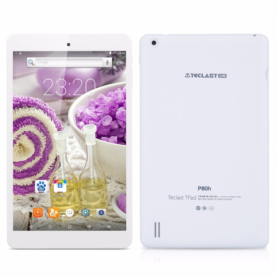 Teclast P80H PC Tablets 8 inch Quad Core Android 7.0 64bit MTK8163 IPS 1280x800  Dual WIFI 2.4G/5G HDMI GPS Bluetooth Tablet PC