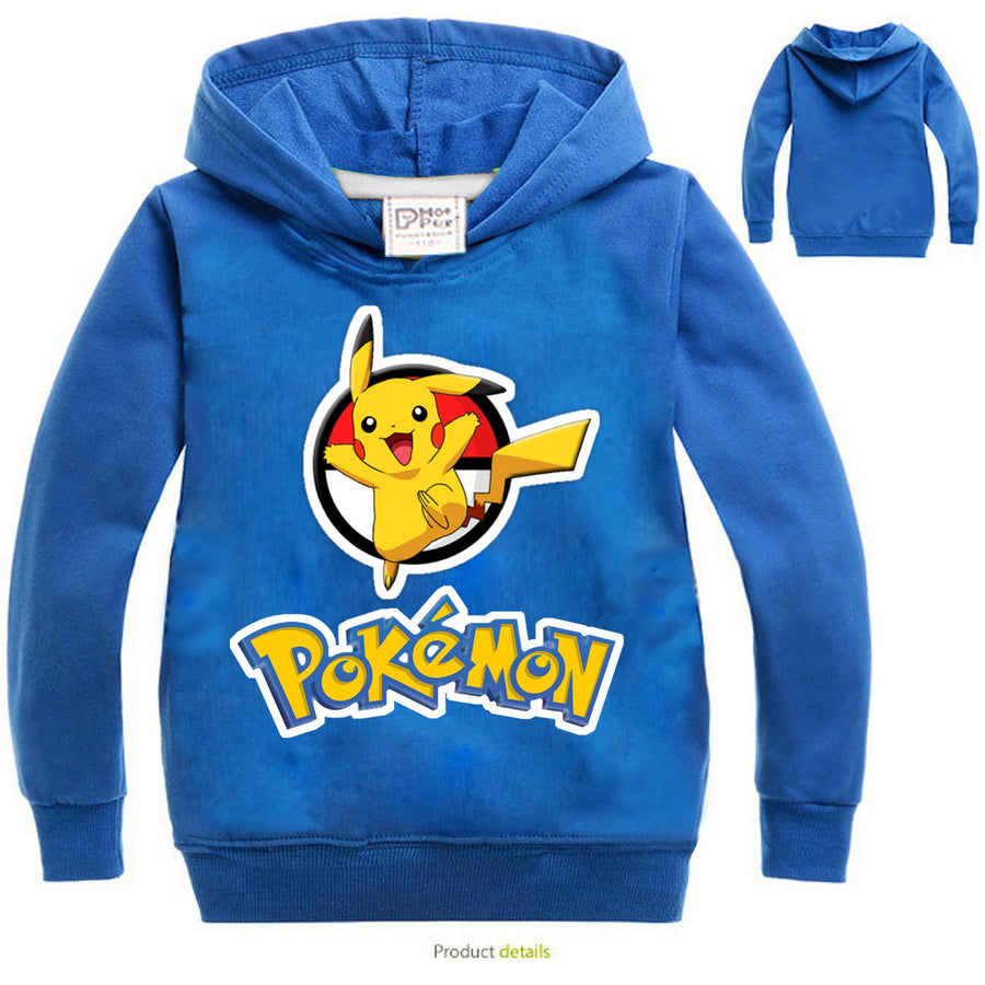 3-10 Years Old POKEMON GO Sweatshirts Girls Boy Cotton Boys Sweatshirt Kids Long Sleeve Shirts New Autumn Children's Sweatshirt