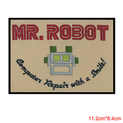1Pcs MR ROBOT FSOCIETY TV SHOW HIGH QUALITY PATCH IRON/SEW ON - US SELLER computer repair with a smile  UpCube- upcube