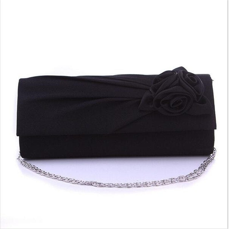 2017 Women's Evening Party Bags Prom Flower Wedding Bag Purse Wallet Fashion Elegant Ladies Satin Clutch Handbags Totes Gifts
