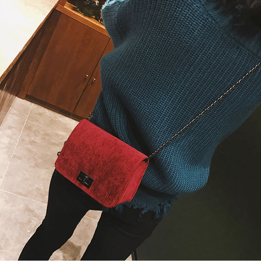Fashion women's messenger bags bolsas feminina casual leather clutch wool hasp Handbag crossbody shoulder bags #Zer