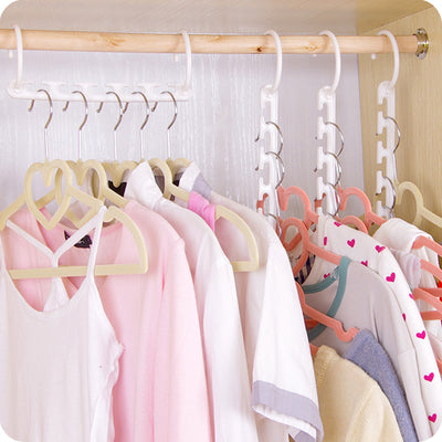 1PC Clothes Hanger Pants Skirt Adjustable Pinch Grip Save Space Clothing Organizer Cabide Clothes Hanger Hook Home Tools  UpCube- upcube