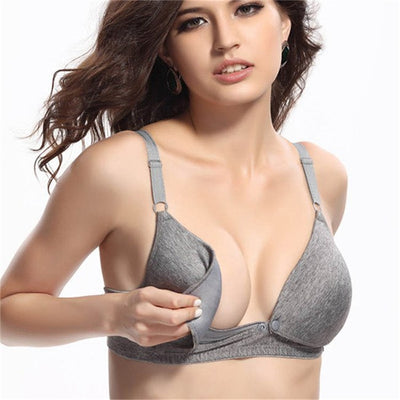 Maternity Nursing Bras Pregnant Women Lingerie Breastfeeding No Rims Front Closure Breast Feeding Bras 1/2 Cup Brassiere