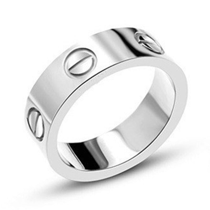 4e8bdfb08af83 Lose money Promotion!316L Stainless Steel logo carter Love ring For Wo