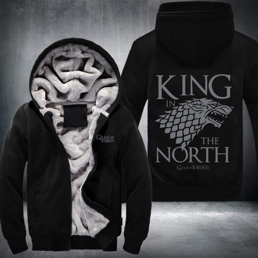 2017 new hot hoodies Mens Sweatshirts Game of Turomes king of north USA Size fast ship full Fleece best quality
