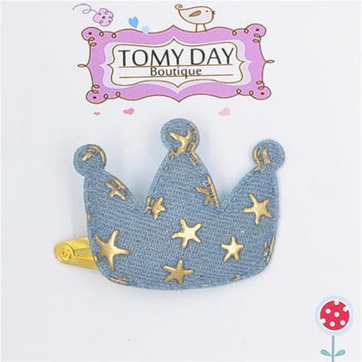 1pc Baby Girls Hair Accessories bb Hairpin Sequin Heart Bear Shiny Fabrics And Crown Hair Clip Kids Children Hairpins  UpCube- upcube