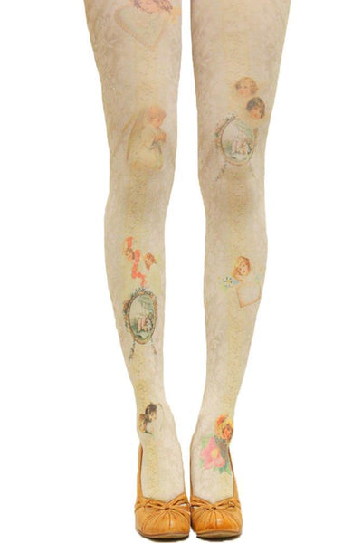 311e7a9fb New Women Tights With Cats Harajuku Tattoo Cat Pantyhose Female Fancy  Stocking Medias Party Pants For