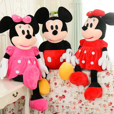 ab29036aafe 1pcs 50cm Mickey Mouse And Minnie Mouse Stuffed Animals Soft Plush Toys for  Baby s Gift High