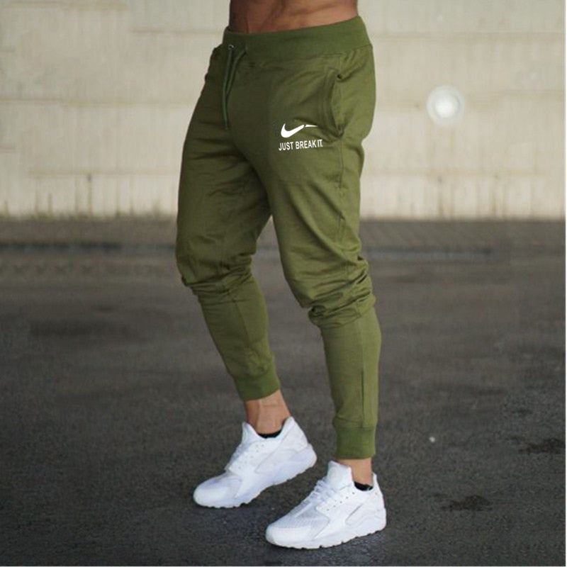 71ab68ee1b7f 2018 New Men Joggers Brand Male Trousers Casual Pants Sweatpants Jogger  grey Casual Elastic cotton GYMS