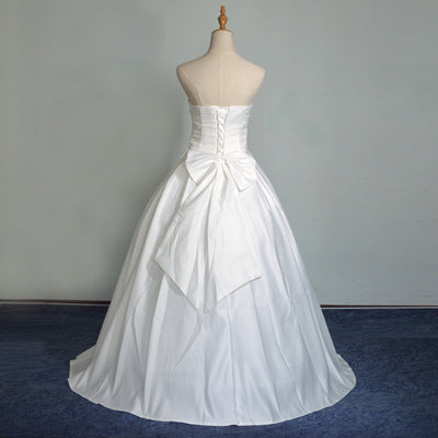 Hot Sale Strapless Sweetange Satin Bridal Dresses Korean Style Sweet  Romantic Lace Princess Wedding Dress Vestido 90d8bbf9e1fc