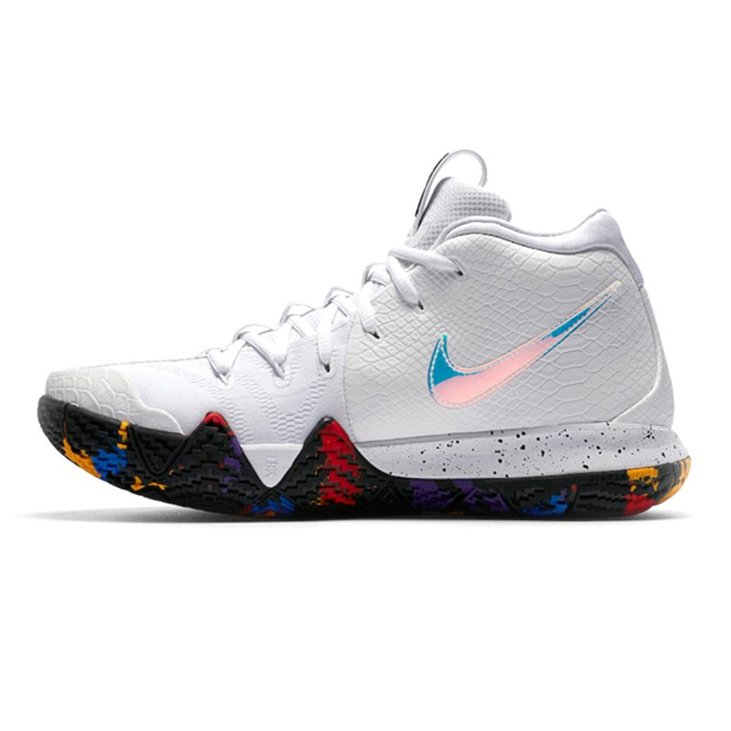 Nike KYRIE 4 EP Irving 4th Generation Men's Basketball Shoes, White, Breathable, Non-Slip, Abrasion Resistant 943807 104