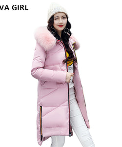 Liva Girl Women's Winter Clothing Plus Size Ladies Coat Hooded Zippers Thick Warm Female Parkas Jaqueta Feminina Inverno YP70675
