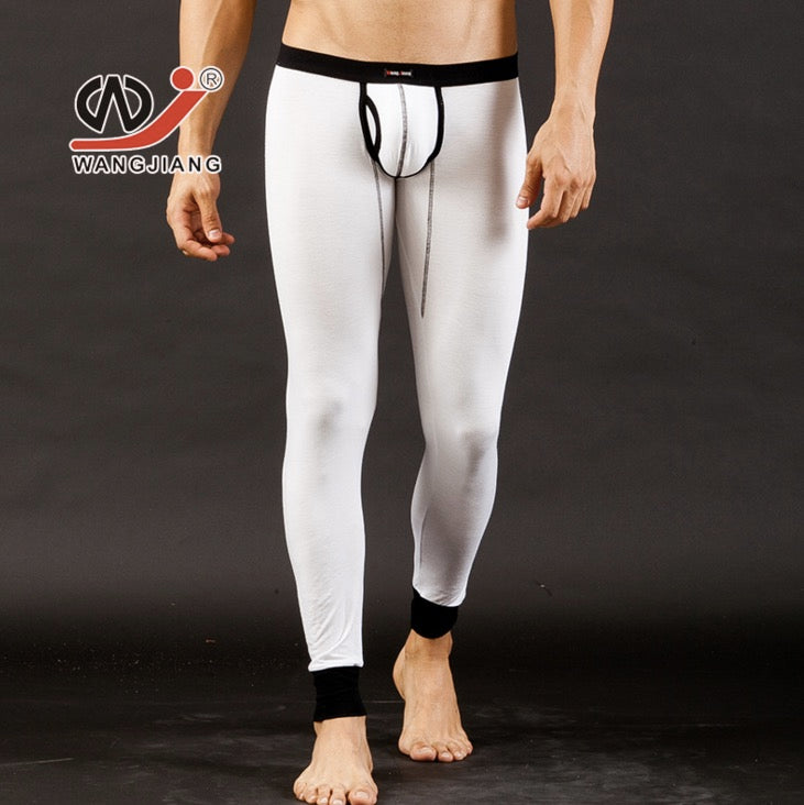 fe8da93df24c3 Men's Long Johns Modal and Spandex low rise Thin Thermal Underwear Pants  Free Shipping