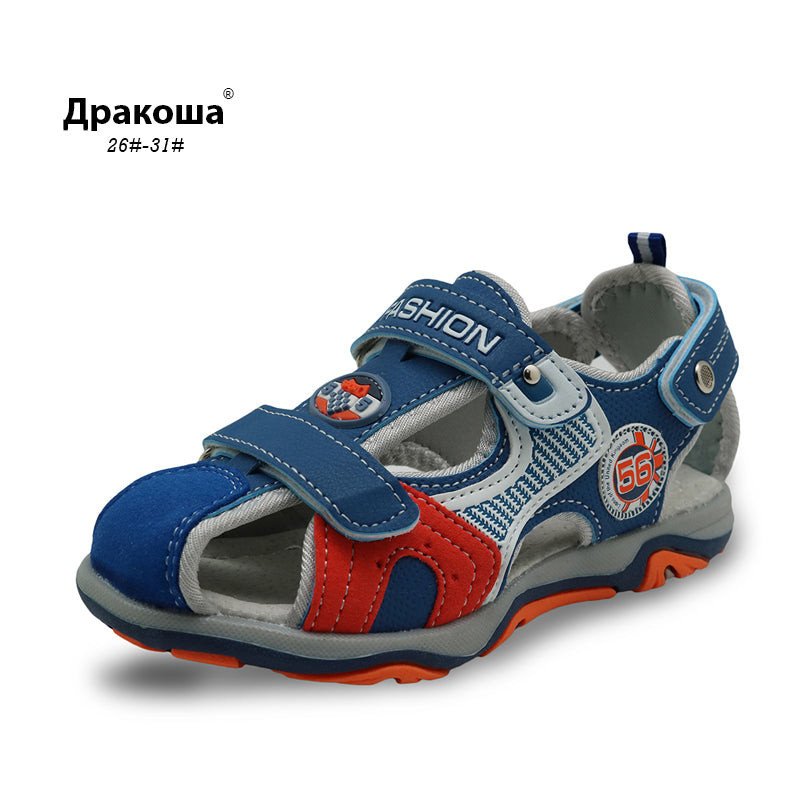 3f62ba5fe087f Apakowa 2017 summer kids beach shoes with Arch support closed toe sandals  for boys designer toddler