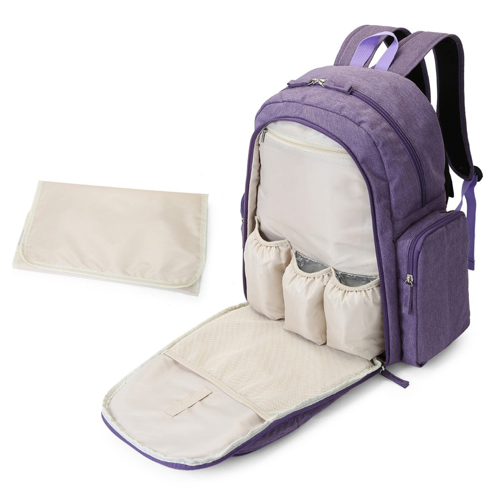 mommore Large Baby Nappy Bag with Changing Pad Baby Diaper Backpacks Mummy  Diaper Bags Multifunctional Picnic 137b5a09102ba